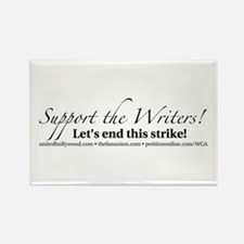 Support the Writers! Rectangle Magnet