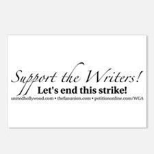 Support the Writers! Postcards (Package of 8)
