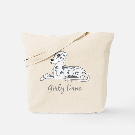 Girly Dane Tote Bag