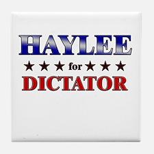 HAYLEE for dictator Tile Coaster