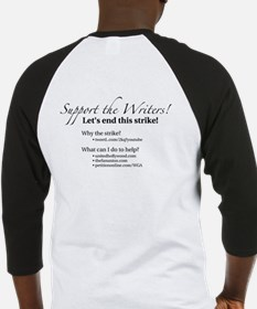 Support the Writers! Baseball Jersey