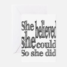 She Believed She Could Greeting Cards