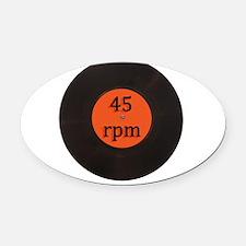 Vinyl record vintage 45 rpm 7 inch Oval Car Magnet