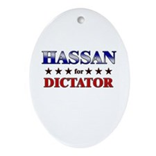 HASSAN for dictator Oval Ornament