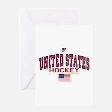 US(USA) United States Hockey Greeting Card