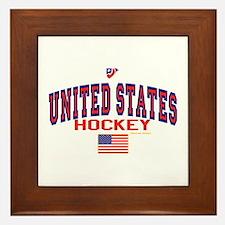 US(USA) United States Hockey Framed Tile