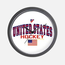 US(USA) United States Hockey Wall Clock