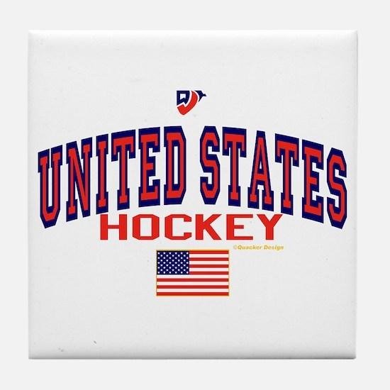 US(USA) United States Hockey Tile Coaster