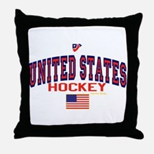 US(USA) United States Hockey Throw Pillow