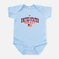 US(USA) United States Hockey Infant Bodysuit