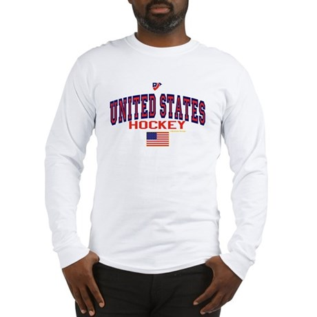 US(USA) United States Hockey Long Sleeve T-Shirt