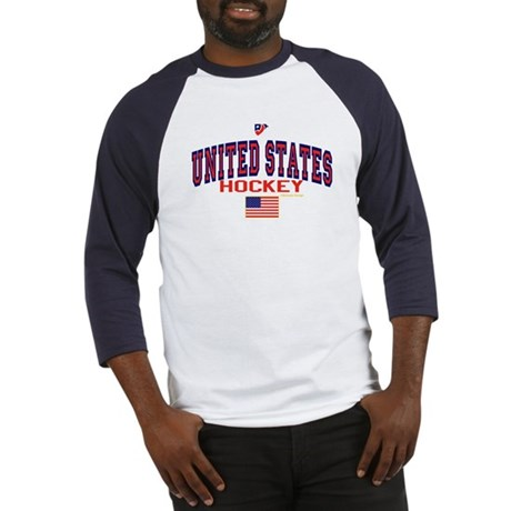 US(USA) United States Hockey Baseball Jersey