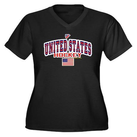 US(USA) United States Hockey Women's Plus Size V-N