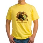 I'd Rather Be Riding Horses Yellow T-Shirt