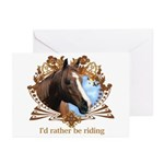 I'd Rather Be Riding Horses Greeting Cards (Pk of