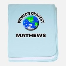 World's Okayest Mathews baby blanket