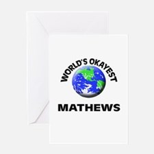 World's Okayest Mathews Greeting Cards