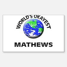 World's Okayest Mathews Decal