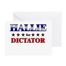 HALLIE for dictator Greeting Cards (Pk of 10)