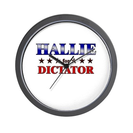 HALLIE for dictator Wall Clock