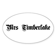 Mrs. Timberlake Oval Decal