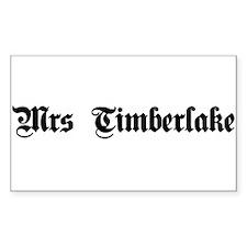 Mrs. Timberlake Rectangle Decal