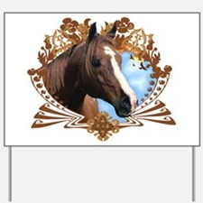 Horse Lover Crest Graphic Yard Sign
