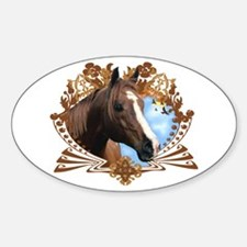 Horse Lover Crest Graphic Oval Decal