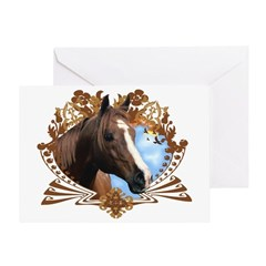 Horse Lover Crest Graphic Greeting Card