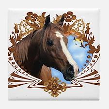 Horse Lover Crest Graphic Tile Coaster