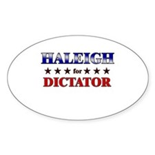 HALEIGH for dictator Oval Decal