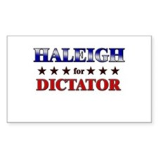 HALEIGH for dictator Rectangle Decal