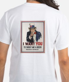 """Mens T-Shirt """"I want you to shout me a Beer"""""""