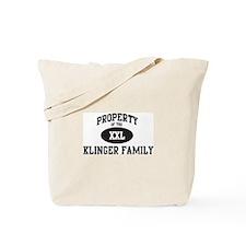 Property of Klinger Family Tote Bag