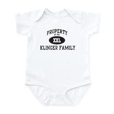 Property of Klinger Family Infant Bodysuit