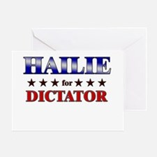 HAILIE for dictator Greeting Card