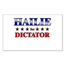 HAILIE for dictator Rectangle Decal