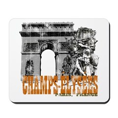 Champ Elysees Distressed Mousepad