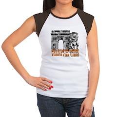 Champ Elysees Distressed Women's Cap Sleeve T-Shir