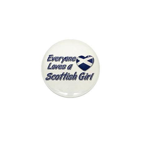 Everyone loves a Scottish girl Mini Button