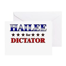 HAILEE for dictator Greeting Card