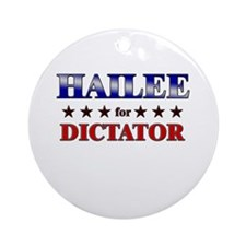 HAILEE for dictator Ornament (Round)