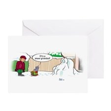 Snow-grandad Greeting Card