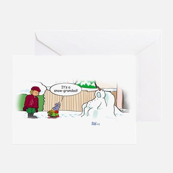 Snow-grandad Greeting Card