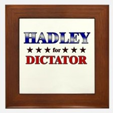 HADLEY for dictator Framed Tile