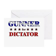 GUNNER for dictator Greeting Card