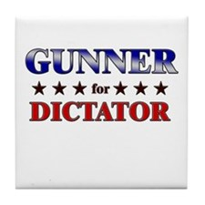 GUNNER for dictator Tile Coaster