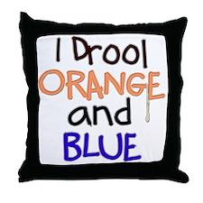 ORANGE and BLUE (Den)  Throw Pillow
