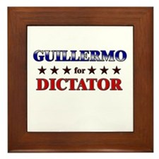 GUILLERMO for dictator Framed Tile