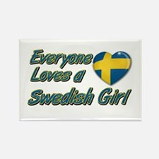 Everyone loves a Swedish girl Rectangle Magnet